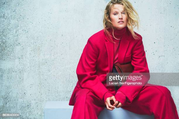 Model Toni Garrn poses at a fashion shoot for Madame Figaro on September 5 2017 in Paris France Jacket pant and top Pia bag PUBLISHED IMAGE CREDIT...