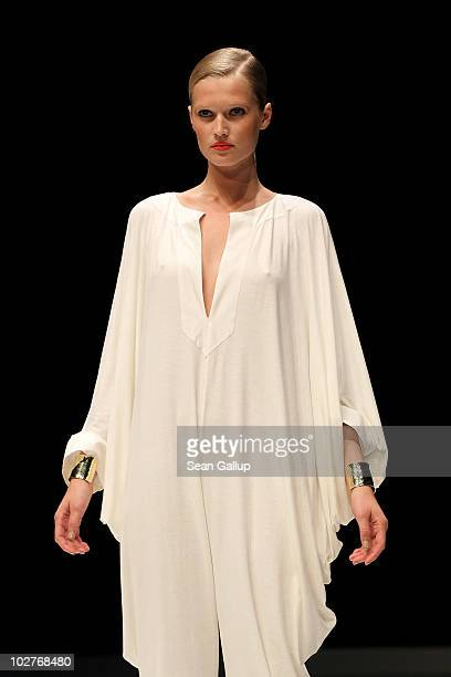 Model Toni Garrn walks the runway at the Michalsky Show at the Michalsky Style Nite at Tempodrom during the Mercedes Benz Fashion Week Spring/Summer...