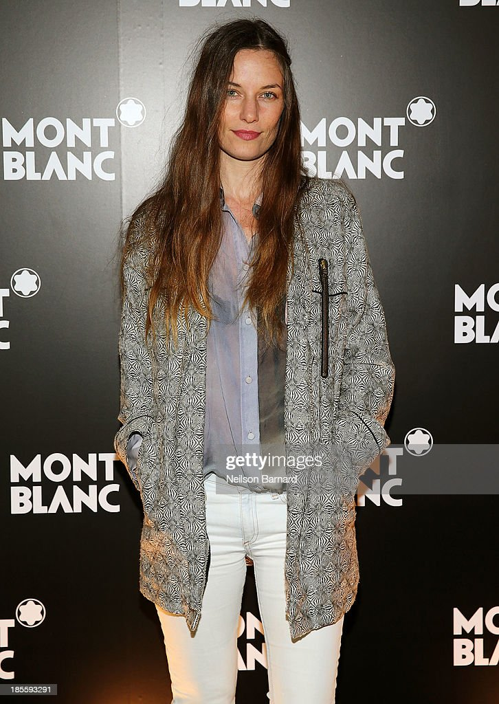 Model Topaz Page-Green attends Montblanc celebrates Madison Avenue Boutique Opening at Montblanc Boutique on Madison Avenue on October 22, 2013 in New York City.