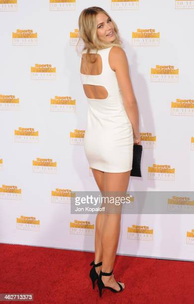 Model Tori Praver arrives at NBC And Time Inc Celebrate 50th Anniversary Of Sports Illustrated Swimsuit Issue at Dolby Theatre on January 14 2014 in...