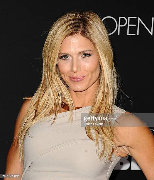 Model Torrie Wilson attends the premiere of 'Fifty Shades of Black' at Regal Cinemas LA Live on January 26 2016 in Los Angeles California