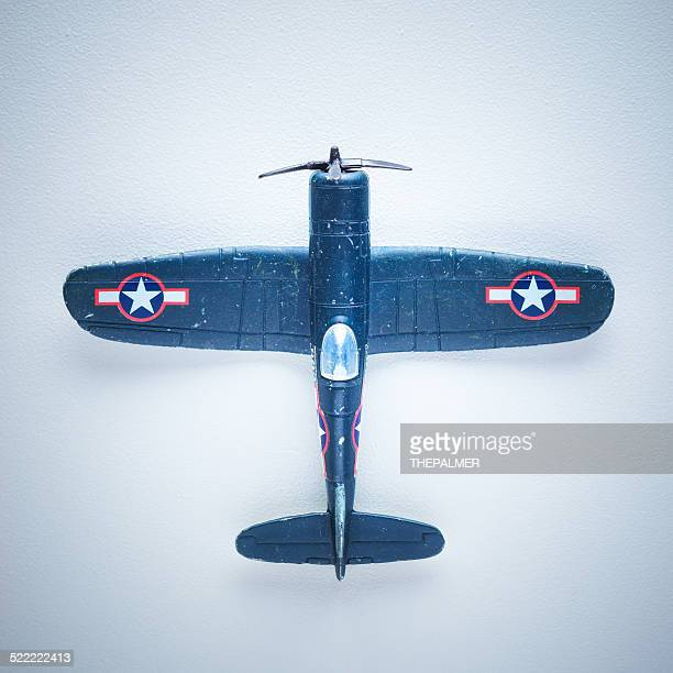 Model toy vintage airplane