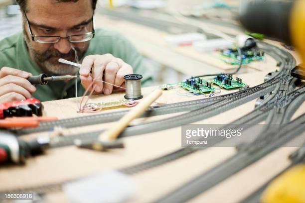 Model Zug builder arbeiten.