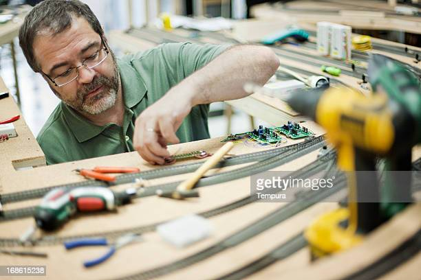 Model train builder working.