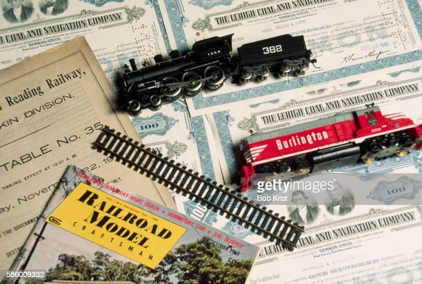 Model Train Cars, Tracks and Magazines