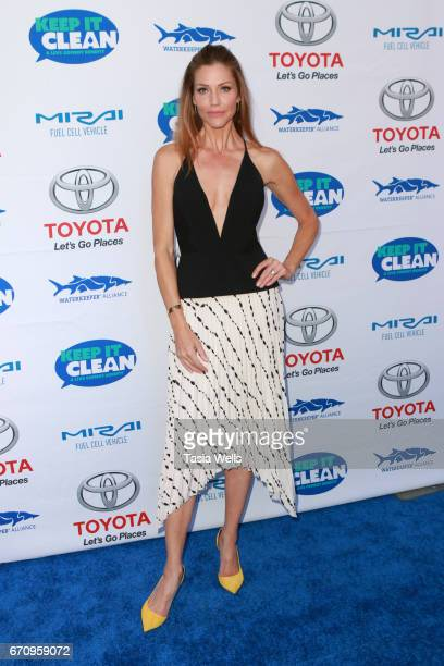 Model Tricia Helfer attends Keep it Clean Live Comedy Benefit for Waterkeeper Alliance at Avalon Hollywood on April 20 2017 in Los Angeles California