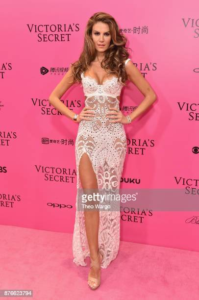 Model Tulin Sahin attends the 2017 Victoria's Secret Fashion Show In Shanghai Pink Carpet Arrivals at MercedesBenz Arena on November 20 2017 in...