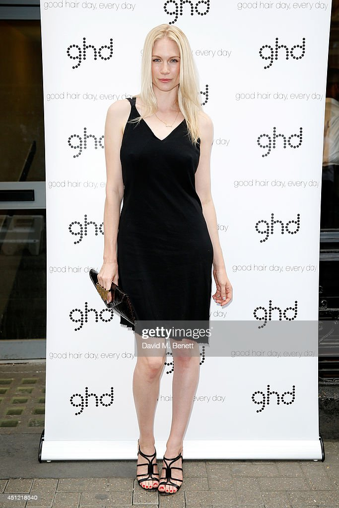Model Tuuli Shipsa attends ghd's exhibition of iconic beauty must-haves to celebrate the launch of ghd aura, a ground-breaking drying and styling tool on June 25, 2014 in London, England.