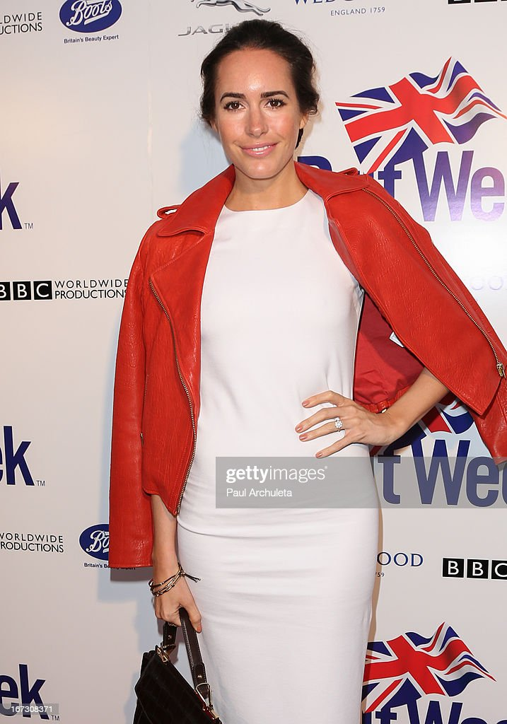 Model / TV Personality Louise Roe attends the 7th annual BritWeek Festival 'A Salute To Old Hollywood' launch party at the British Consul General's Residence on April 23, 2013 in Los Angeles, California.