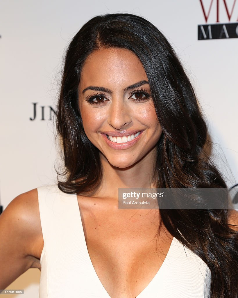 Model / TV personality Mona Zohrehvand attends the Viva Glam Magazine Summer 2013 issue launch party at W Hollywood on August 25, 2013 in Hollywood, California.