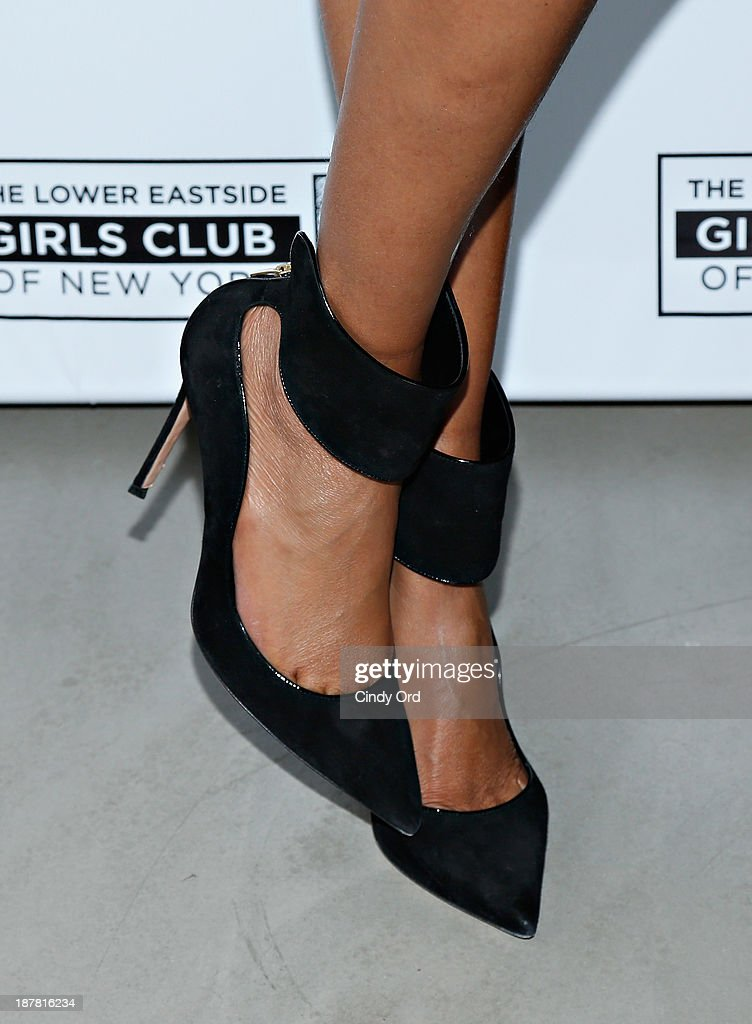 Model/ TV personality <a gi-track='captionPersonalityLinkClicked' href=/galleries/search?phrase=Tyra+Banks&family=editorial&specificpeople=202216 ng-click='$event.stopPropagation()'>Tyra Banks</a> (shoe detail) attends the Lower East Side Girls Club Grand Opening Gala on November 12, 2013 in New York City.