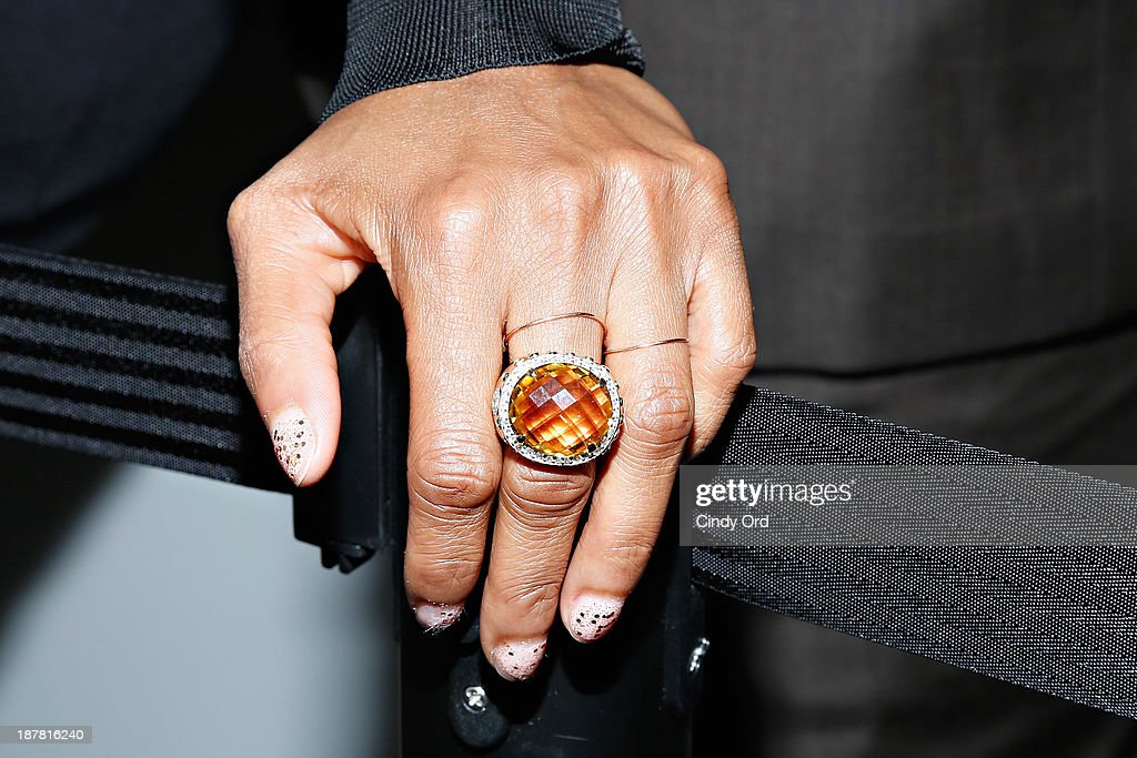 Model/ TV personality <a gi-track='captionPersonalityLinkClicked' href=/galleries/search?phrase=Tyra+Banks&family=editorial&specificpeople=202216 ng-click='$event.stopPropagation()'>Tyra Banks</a> (ring detail) attends the Lower East Side Girls Club Grand Opening Gala on November 12, 2013 in New York City.