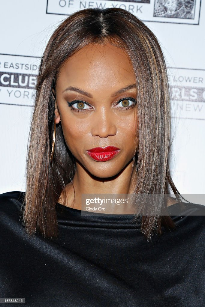 Model/ TV personality <a gi-track='captionPersonalityLinkClicked' href=/galleries/search?phrase=Tyra+Banks&family=editorial&specificpeople=202216 ng-click='$event.stopPropagation()'>Tyra Banks</a> attends the Lower East Side Girls Club Grand Opening Gala on November 12, 2013 in New York City.
