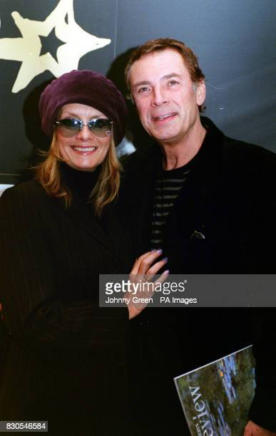 Model Twiggy and her husband Leigh Lawson arrive at Sotheby's in central London for the celebrity preview of film memorabilia auction in aid of...