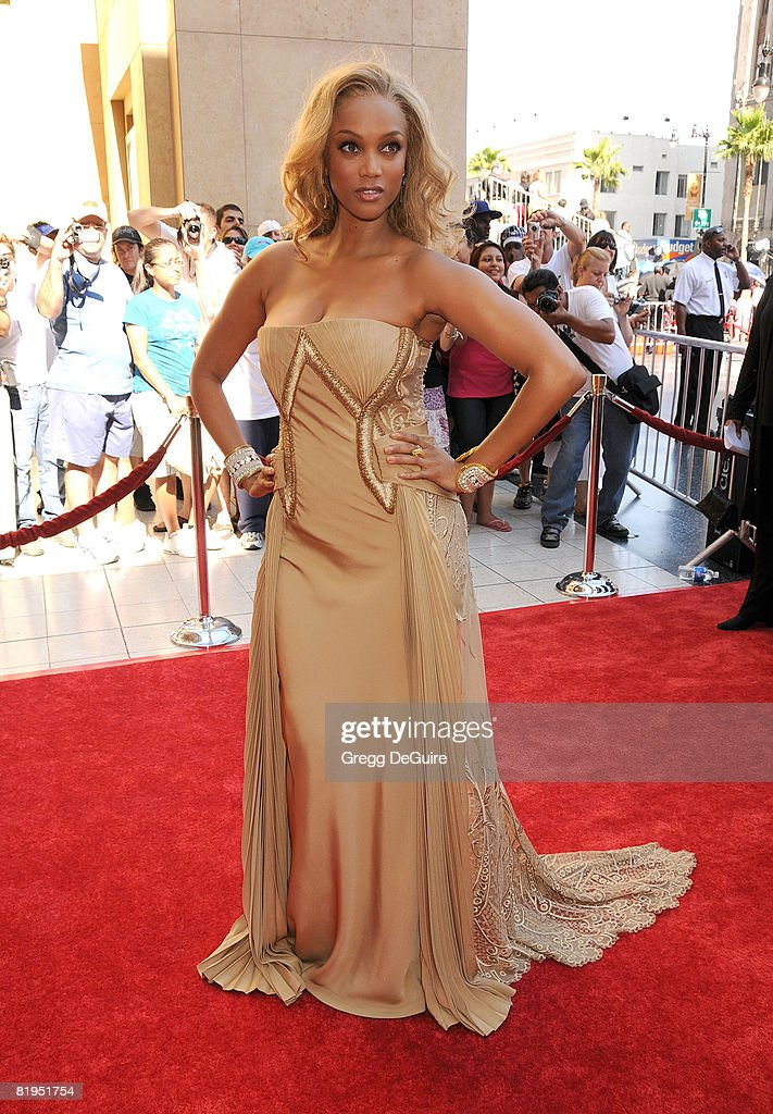 Model Tyra Banks arrives at the 35th Annual Daytime Emmy Awards at the Kodak Theatre on June 20, 2008 in Los Angeles, California.