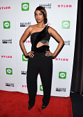 Model Tyra Banks arrives at the America's Next Top Model Cycle 21 Premiere Party Presented By NYLON and LINE at SupperClub Los Angeles on August 20...