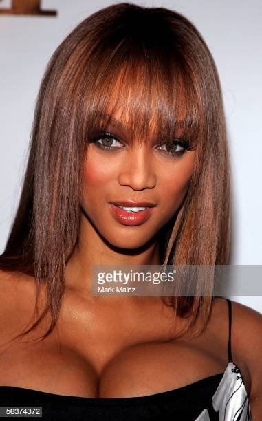 Model Tyra Banks arrives to America's Next Top Model Cycle 5 Finale Event held at the The Avalon on December 7 2005 in Los Angeles California