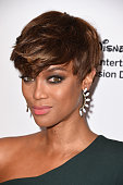 Model Tyra Banks attends Disney ABC Television Group's 2015 TCA Summer Press Tour at the Beverly Hilton Hotel on August 4 2015 in Beverly Hills...