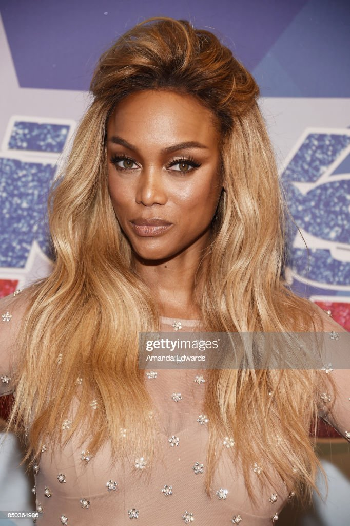 Model Tyra Banks attends NBC's 'America's Got Talent' Season 12 Finale at the Dolby Theatre on September 20, 2017 in Hollywood, California.