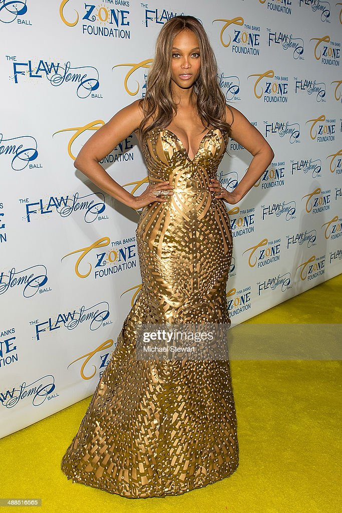 Model Tyra Banks attends Tyra Banks' Flawsome Ball 2014 at Cipriani Wall Street on May 6 2014 in New York City