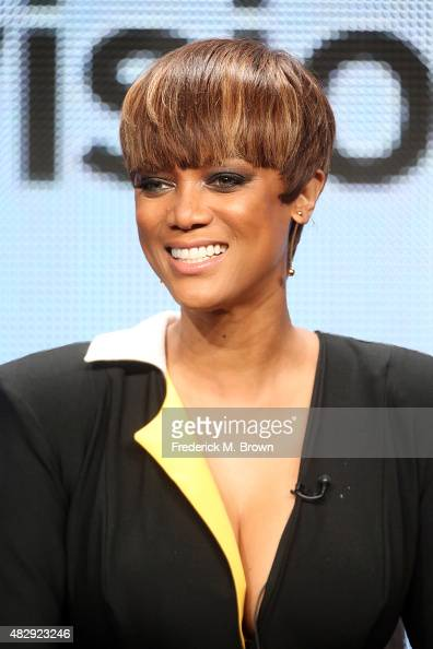 Model Tyra Banks speaks onstage during the 'The FAB Life' panel discussion at the ABC Entertainment portion of the 2015 Summer TCA Tour at The...