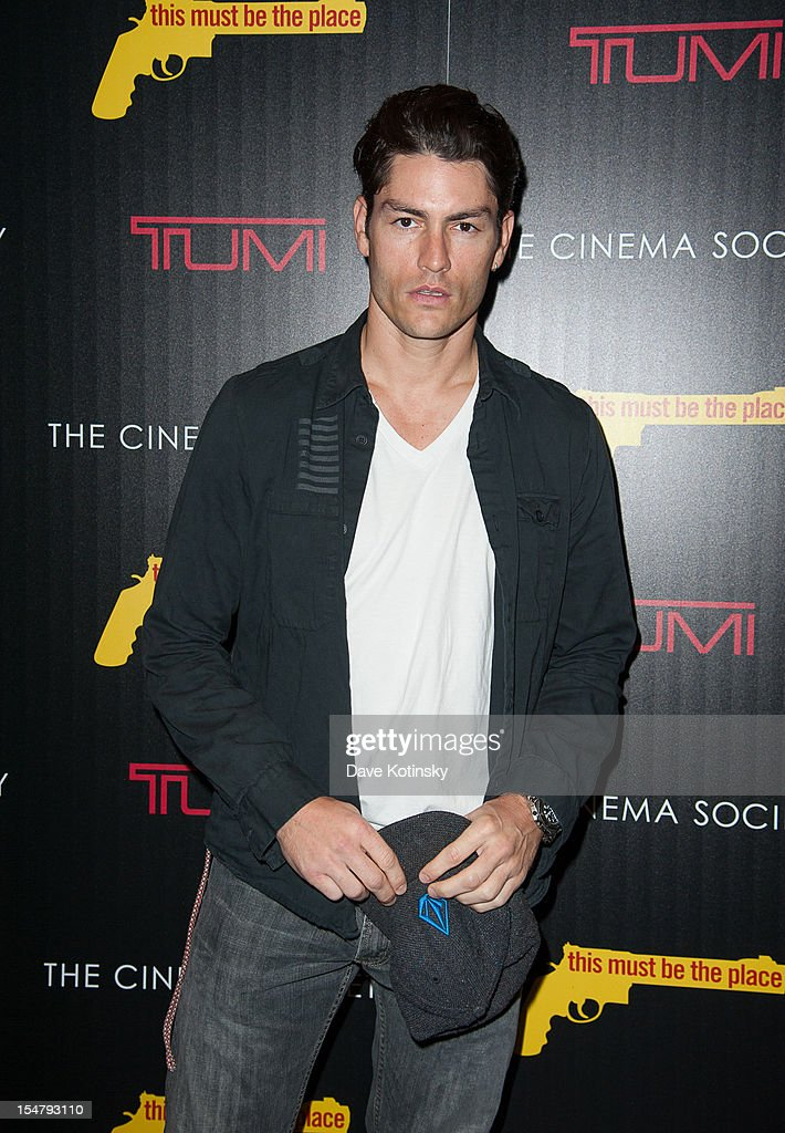 Model Tyson Ballou attends The Weinstein Company With The Cinema Society And Tumi Host A Screening Of 'This Must Be the Place' at Tribeca Grand Hotel on October 25, 2012 in New York City.