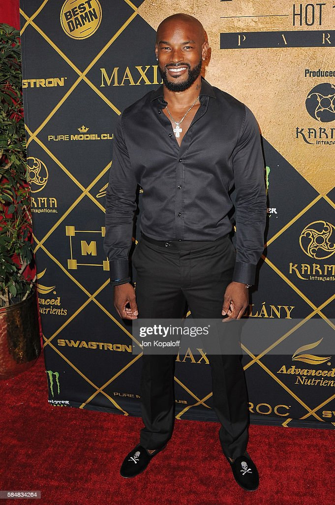 Model Tyson Beckford arrives at the Maxim Hot 100 Party at the Hollywood Palladium on July 30, 2016 in Los Angeles, California.