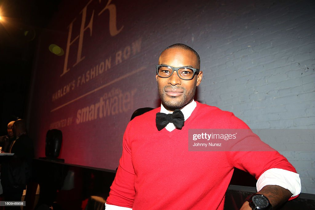 Model <a gi-track='captionPersonalityLinkClicked' href=/galleries/search?phrase=Tyson+Beckford&family=editorial&specificpeople=210873 ng-click='$event.stopPropagation()'>Tyson Beckford</a> attends Harlem's Fashion Row Presentation during Fall 2013 Mercedes-Benz Fashion Week at The Apollo Theater on February 7, 2013 in New York City.