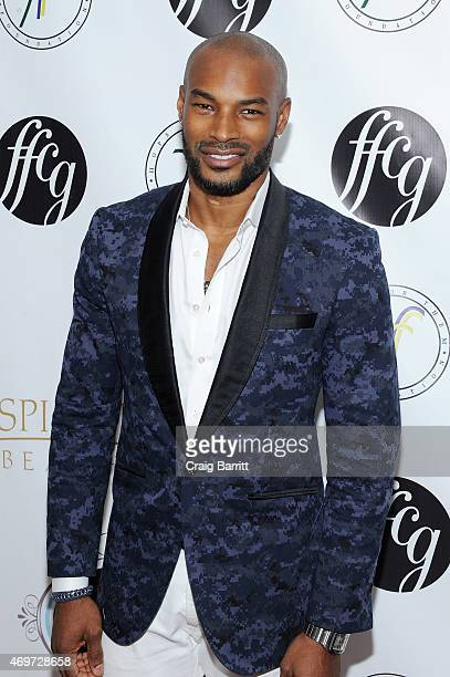 Model Tyson Beckford attends the 4th Annual Fashion For Charity Gala on April 14 2015 in New York City