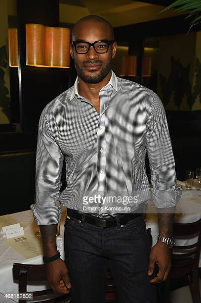 Model Tyson Beckford attends the Dsquared's Dean and Dan Caten hosted dinner at Indochine to celebrate New York Flagship Opening at Indochine on...