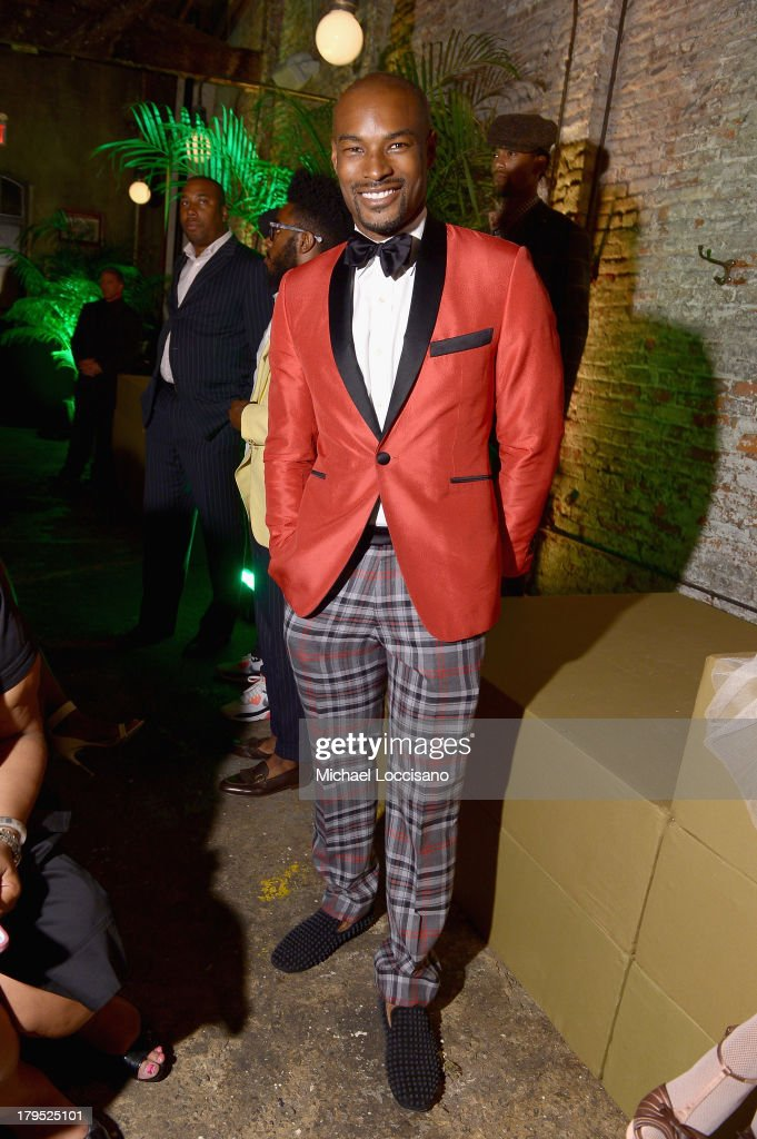 Model <a gi-track='captionPersonalityLinkClicked' href=/galleries/search?phrase=Tyson+Beckford&family=editorial&specificpeople=210873 ng-click='$event.stopPropagation()'>Tyson Beckford</a> attends the HBO Boardwalk Empire Fashion Fete with June Ambrose at Houston Hall on September 4, 2013 in New York City.