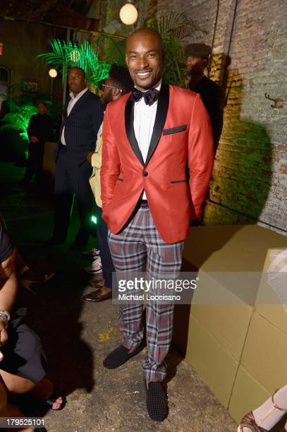 Model Tyson Beckford attends the HBO Boardwalk Empire Fashion Fete with June Ambrose at Houston Hall on September 4 2013 in New York City