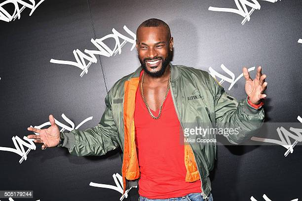 Model Tyson Beckford attends VANDAL Grand Opening in New York City on January 15 2016 in New York City