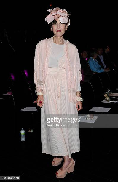 Model Tziporah Salamon front row at the Raul Penaranda spring 2013 fashion show during MercedesBenz Fashion Week at XL Nightclub on September 13 2012...