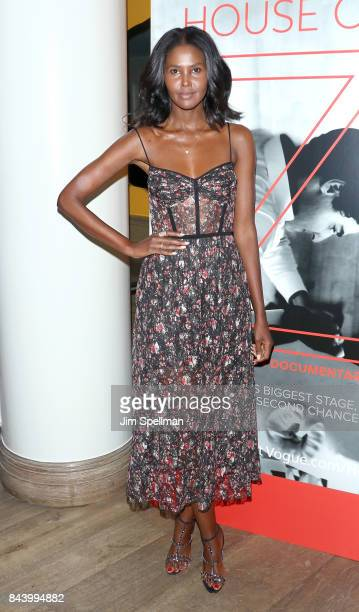Model Ubah Hassan attends the premiere of 'House of Z' hosted by Brooks Brothers with The Cinema Society at Crosby Street Hotel on September 7 2017...