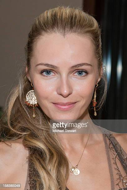 Model Valentina Zelyaeva attends Lonneke Engel And Valentina Zelyaeva Organice Your Life Annual Holiday Party at Time Warner Building on December 14...