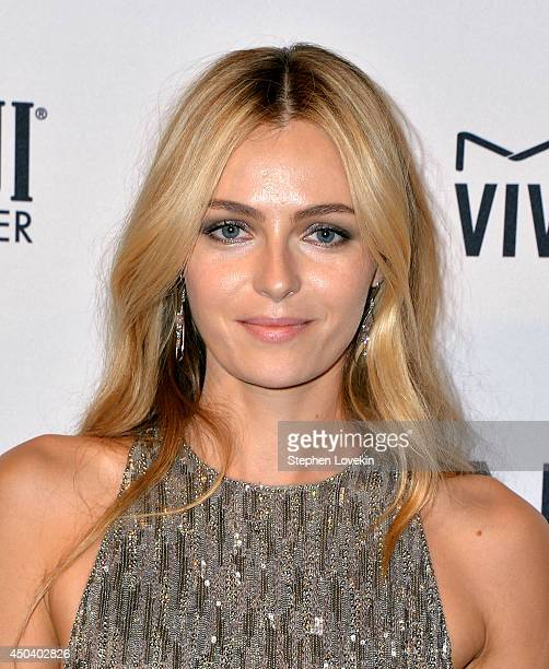 Model Valentina Zelyaeva attends the amfAR Inspiration Gala New York 2014 at The Plaza Hotel on June 10 2014 in New York City