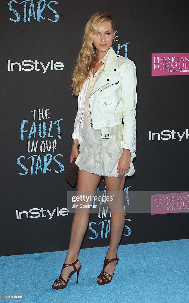 Model Valentina Zelyaeva attends 'The Fault In Our Stars' premiere at Ziegfeld Theater on June 2 2014 in New York City