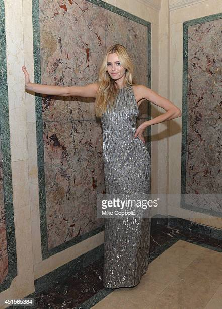 Model Valentina Zelyaeva is photographed at the amfAR Inspiration Gala at The Plaza Hotel on June 10 2014 in New York City