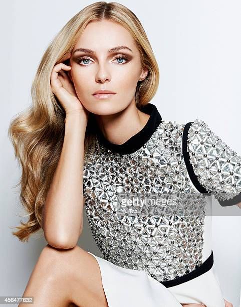 Model Valentina Zelyaeva is photographed for a fashion editorial for Marie Claire Russia on July 7 2014 in Los Angeles California PUBLISHED IMAGE