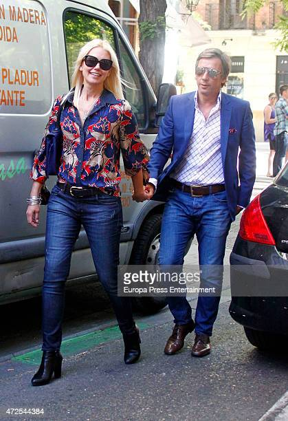Model Valeria Mazza and her husband Alejandro Gravier are seen leaving a restaurant on May 7 2015 in Madrid Spain