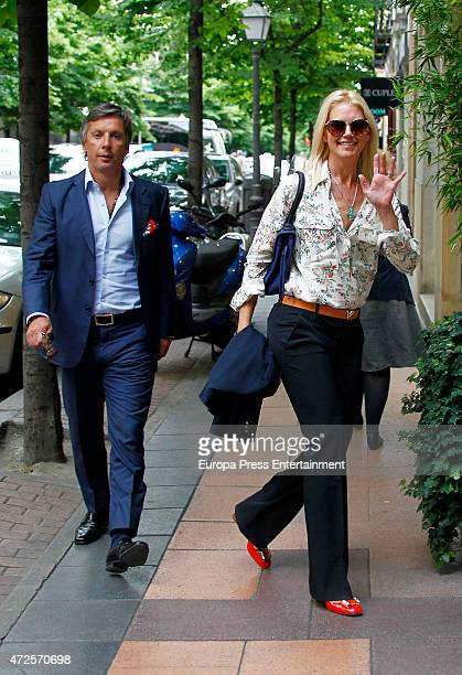 Model Valeria Mazza and her husband Alejandro Gravier are seen on May 6 2015 in Madrid Spain