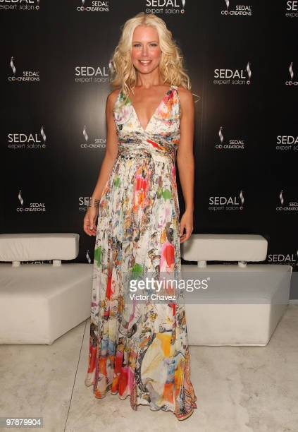 Model Valeria Mazza attends the launch of the Sedal Expert Salon Masaryk on March 18 2010 in Mexico City Mexico
