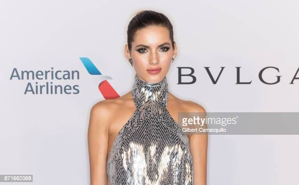 Model Valery Kaufman attends as the Elton John AIDS Foundation commemorates its 25th year and honors founder Sir Elton John during the New York Fall...