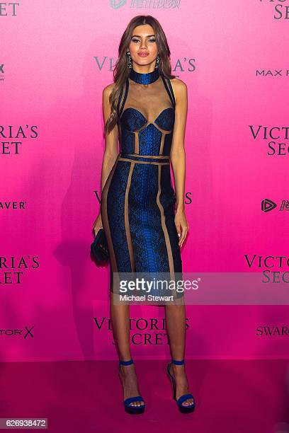 Model Valery Kaufman attends the 2016 Victoria's Secret Fashion Show after party at Le Grand Palais on November 30 2016 in Paris France