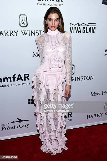 Model Valery Kaufman attends the 7th Annual amfAR Inspiration Gala at Skylight at Moynihan Station on June 9 2016 in New York City