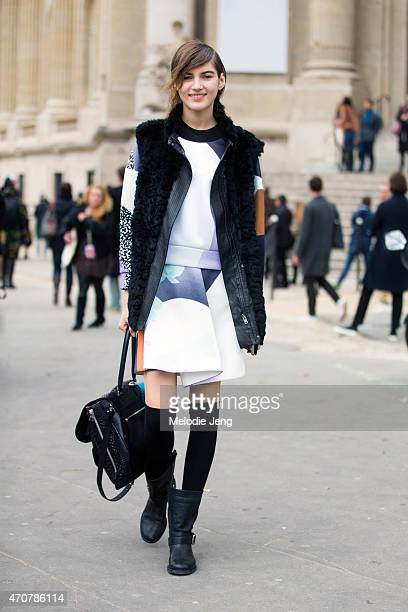 Model Valery Kaufman exits the Chanel show at Grand Palais on Day 8 of Paris Fashion Week FW15 on March 10 2015 in Paris France