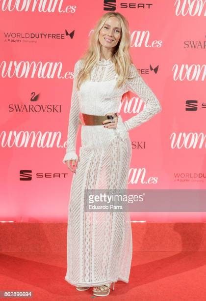 Model Vanesa Lorenzo attends the 'Woman 25th anniversary' photocall at Madrid Casino on October 18 2017 in Madrid Spain