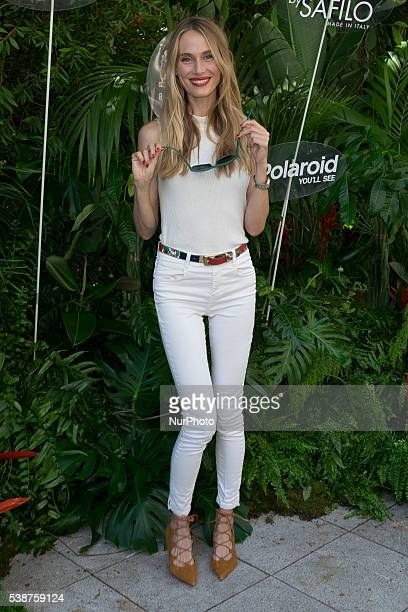 Model Vanesa Lorenzo presents the campaign to raise awarness about children's eyes protection at Santo Mauro hotel on June 8 2016 in Madrid Spain