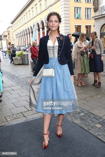 Model Vanessa Fuchs GNTM during the 'Fruehstueck bei Tiffany' at Tiffany Store ahead of the Oktoberfest on September 16 2017 in Munich Germany